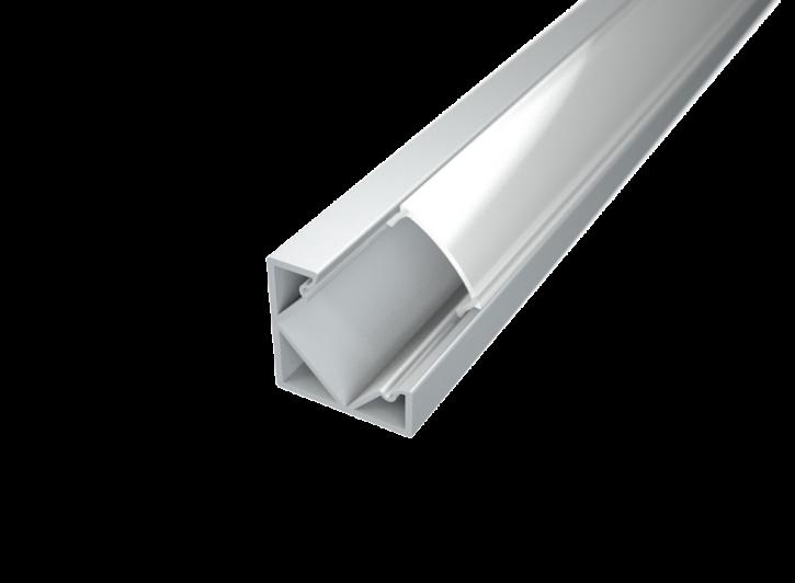 LED Alu Eck-Profil Corner 1 1818 inkl. Abdeckung matt 2000mm