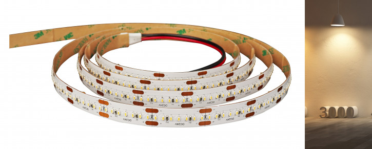24v SMD1808 240 LED pro Meter Warmweiß 3000k 500cm IP20 14w/m (70w)