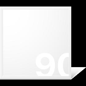 LED Panel 620x620 mm, 40W, 6000 K, CRI:>90, Kein Flimmern