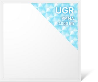 LED Panel 620x620 mm, UGR<19, 40W, 4000K, CRI:>90, 100 lm/W