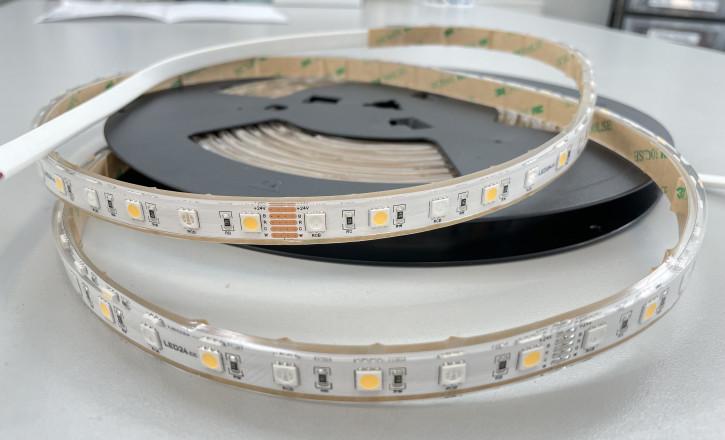 24v RGB+W 5050 500cm Rolle IP68 12mm 14w/m