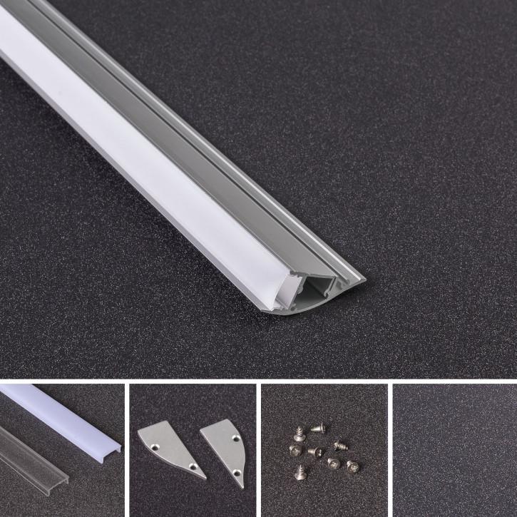 LED Alu Profil Z-4418 inkl. Abdeckung matt 2000mm
