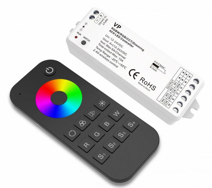 RGB / RGBW Controller Set Pin RF 2.4ghz 144w / 288w (12/24v)