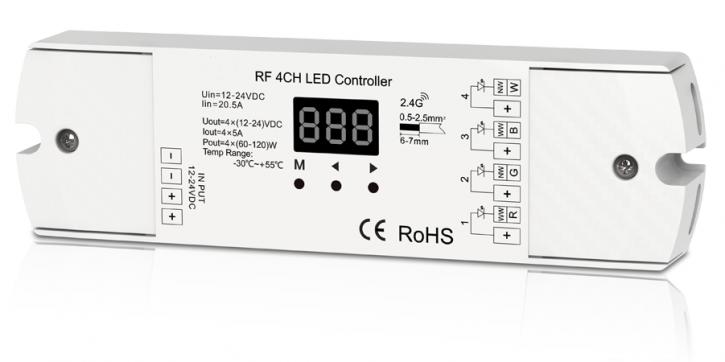 4 kanal rgb    rgbw receiver pin rf 2 4ghz bis 480w     12  24v