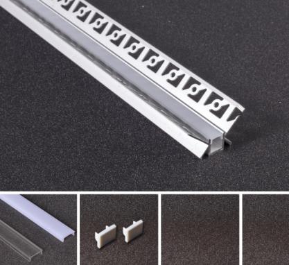 LED Alu Unterputz Profil U-4525 inkl. Abdeckung matt 2000mm