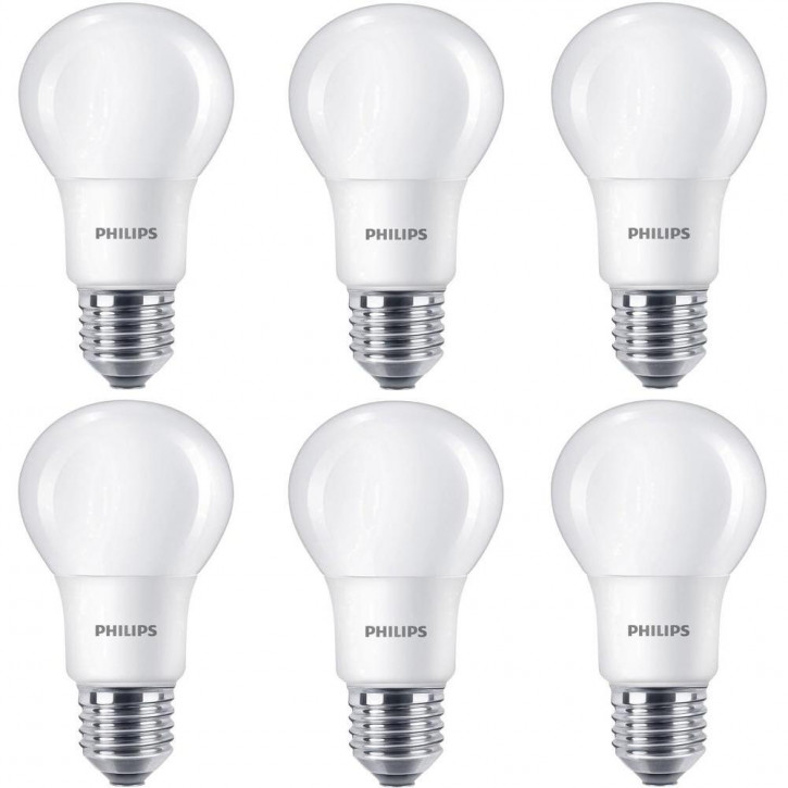6x E27 Philips 8w LED Birne extra warmweiss 2700k