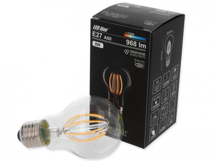 E27 8w LED Birne Graphene warmweiss 2700k