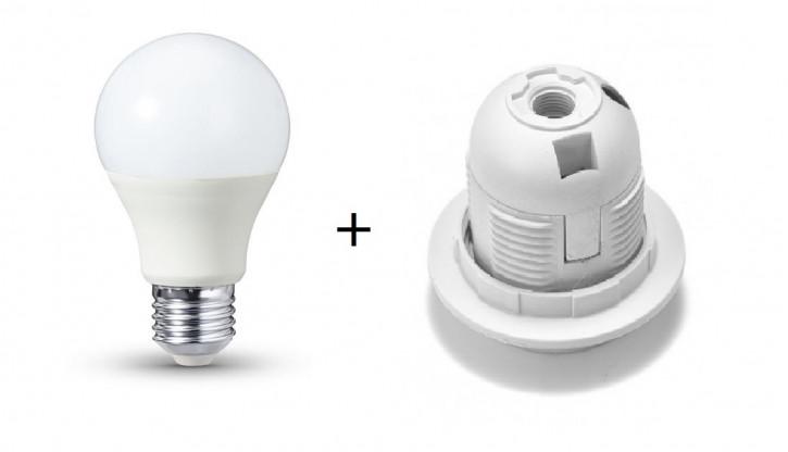 Aktion E27 Fassung + LED Birne