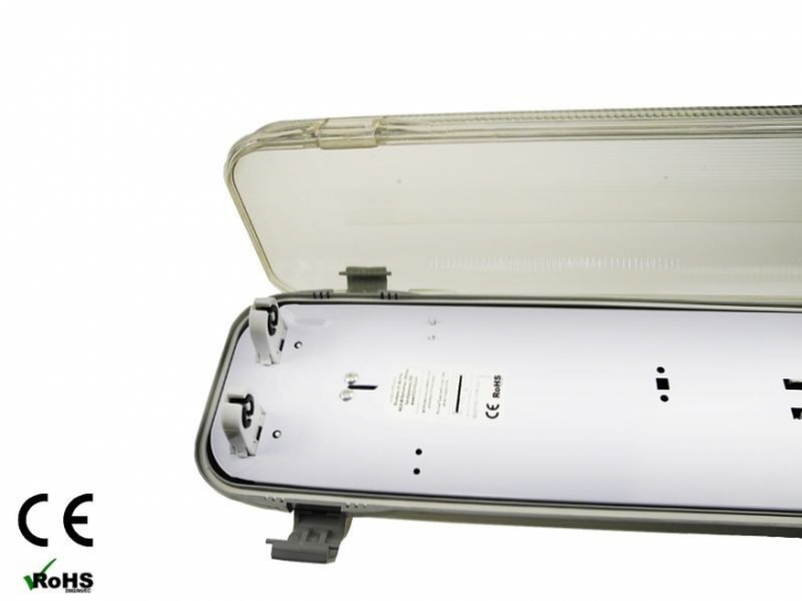 2x150cm LED Feuchtraumbalken doppelt