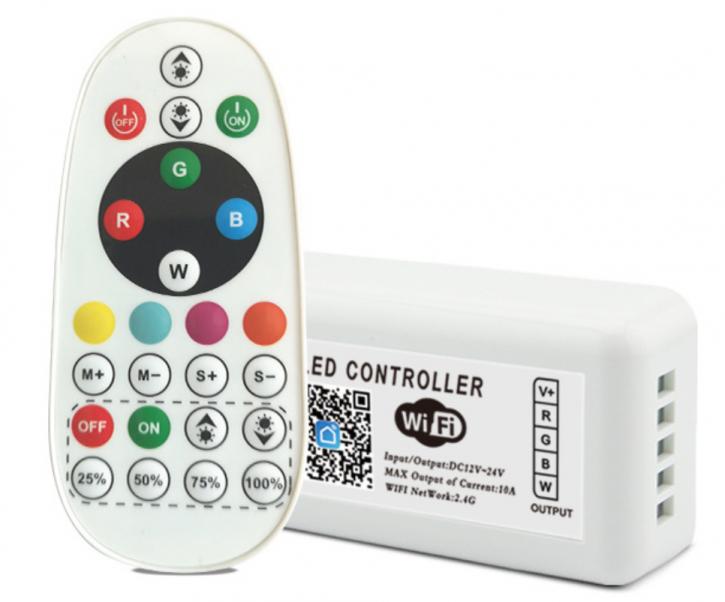 WiFi SMD RGB / RGBW Controller Dimmer Set 2.4ghz 120 / 240w / 288w (12/24v)