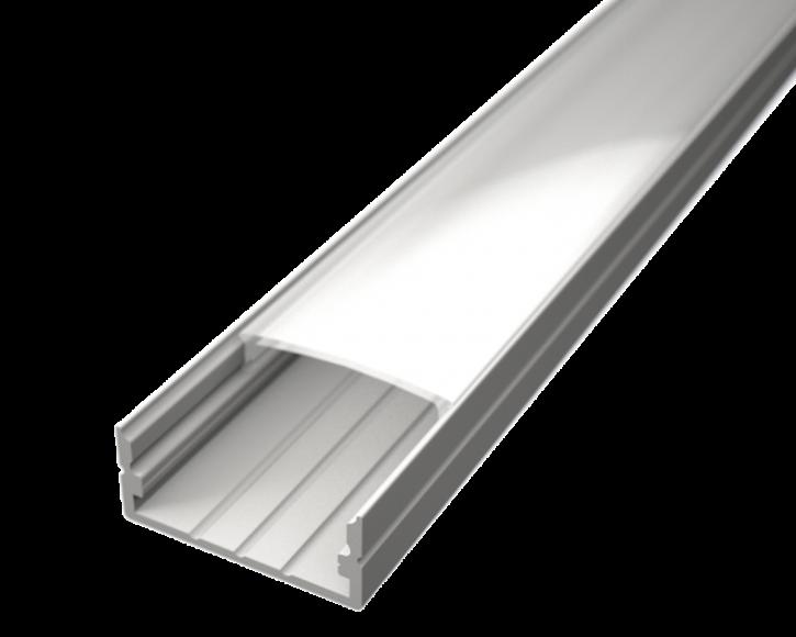 LED Alu Profil Standard 2 S-2310 white edition inkl. Abdeckung matt 2000mm
