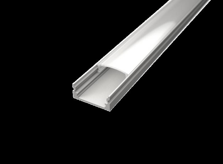 LED Alu Profil Standard 1 S-1709 white edition inkl. Abdeckung matt 2000mm