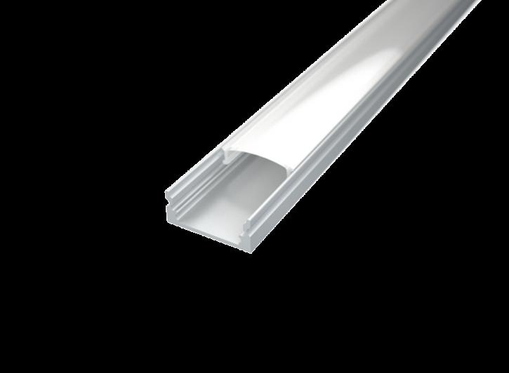 LED Alu Profil Standard 1 S-1709 inkl. Abdeckung matt 2000mm