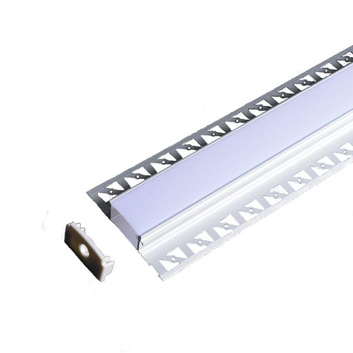 LED Alu Unterputz Profil Z-6214 inkl. Abdeckung matt 2000mm