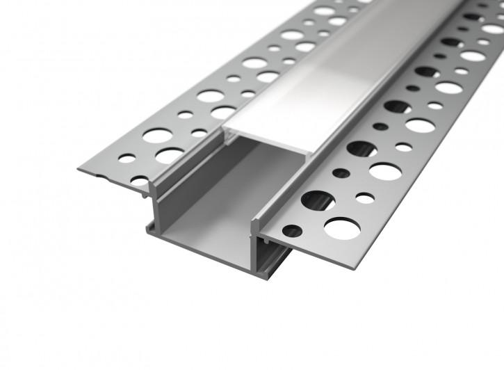 LED Alu Unterputz Profil 6114 inkl. Abdeckung matt 2000mm