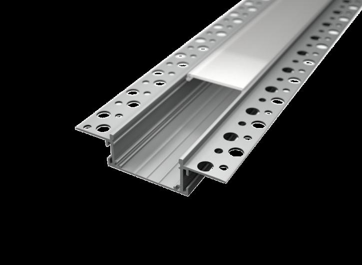 LED Alu Unterputz Profil U-7418 inkl. Abdeckung matt 2000mm