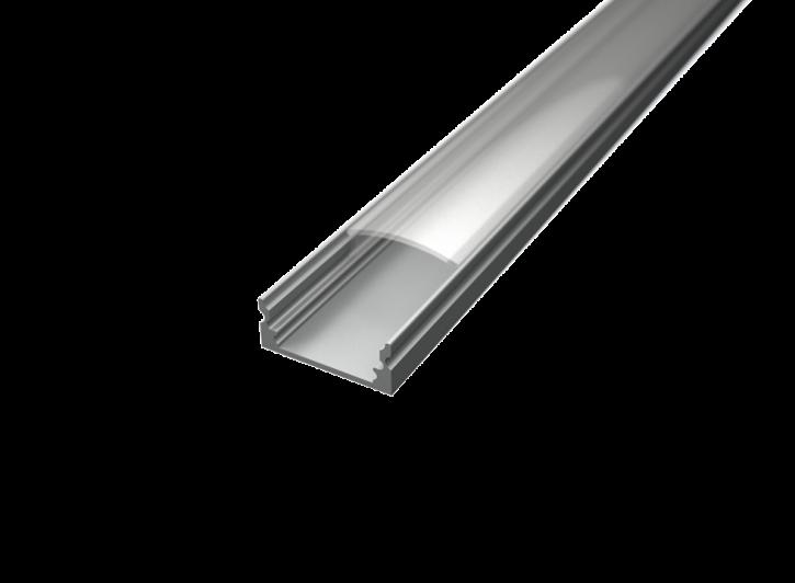 LED Alu Profil Standard 1 schmal inkl. Abdeckung klar 2000mm