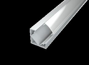 LED Alu Eck-Profil Corner 1 inkl. Abdeckung matt 2000mm