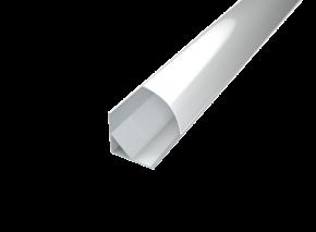LED Alu Eck-Profil 1616 inkl. Abdeckung matt 2000mm