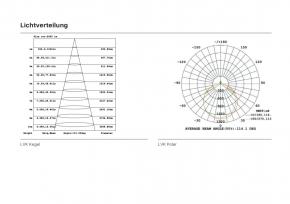 LED Panel 295x1195 mm, CCT, 40W, 3000-6000K, CRI:>90 mit Fernbedienung