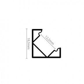 LED Alu Eck-Profil Corner 1 1818 black edition inkl. Abdeckung matt 2000mm