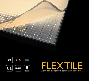 24v LED Platine Flex Tile Fliese warmweiss 3000k 10w