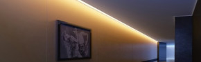 LED Alu Eck-Profil Corner 4 3030 rund inkl. Abdeckung matt 2000mm