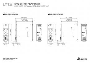 24v 120w Delta DRL-24v120w1aS Hutschienen Netzteil