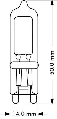 G9 2w LED Stiftsockel warmweiss 3000k