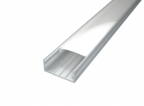 LED Alu Profil Standard 2 breit inkl. Abdeckung matt 2000mm