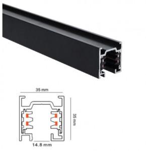 200cm 3 Phasen Aufbau Stromschiene schwarz