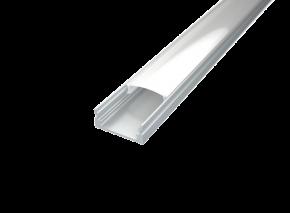 LED Alu Profil Standard 1 inkl. Abdeckung matt 2000mm